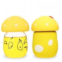 Wholesale Cute Angry Mashroom Shape Kids Glass Water Bottle BPA Free Lovely 200ml from china suppliers