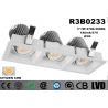 Buy cheap Triple - Head Square Tiltable LED Recessed Downlight Low Heat Sink 21 Watt from wholesalers