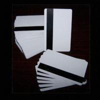 Wholesale Blank White PVC Magnetic Stripe Cards with 0.76mm Thickness and 2,750 to 4,000oe High Coercively from china suppliers
