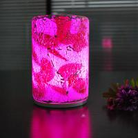 Buy cheap Fashionable  crack pattern intelligent remote glass 90*140mm size LED table lamp. from wholesalers