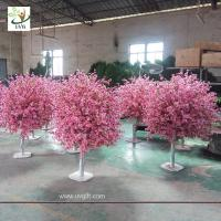 Wholesale UVG 4ft cheap artificial trees with fake peach blossoms for wedding table center pieces from china suppliers