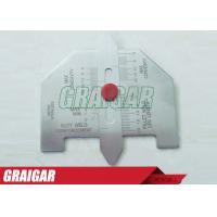 Wholesale Metric Automatic Weld Gauge For Welding Inspection / Stanless Steel Welding Gage from china suppliers