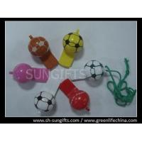Wholesale Cheap football shape whistles with different colors from china suppliers