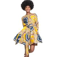 Wholesale Women Full  Lace-Up African Print Skirts , 100% Pure Cotton Dress Wax Printing from china suppliers