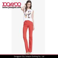 Wholesale Women Kiss Red Ultimate Double Weave Barely Boot Slim Editor Pants from china suppliers