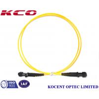 Wholesale Yellow MT-RJ / UPC PVC LSZH 1.0m Fiber Optic Patch Cord Single Mode 2.0mm from china suppliers