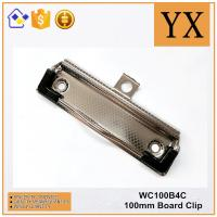 Wholesale Checkered Nickel Plate Metal A5 A4 A3 Paper Clipboard Clip With Plastic Rubber Corner from china suppliers