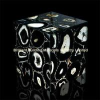 Wholesale Backlit Semiprecious Stone Black Agate Cube Box from china suppliers