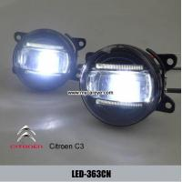 Wholesale Citroen C3 car front led fog lights for sale LED daytime running lights DRL from china suppliers