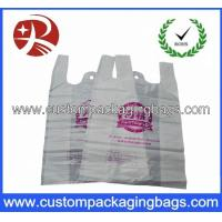 Wholesale Color printed Plastic Biodegradable bags with Side gusset vest handle shopping bag from china suppliers