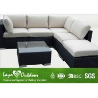 Wholesale Anti - Termite Wicker Patio Furniture Sets Black Garden Sofa With Coffee Table from china suppliers