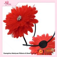 Buy cheap 10cm Large Red Sun Flower Girl Headband For Birthday Present / Holiday / Party Celebration from wholesalers