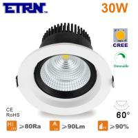Wholesale ETRN Brand CREE COB LED 5 inch 30W Dimmable LED Downlights Ceiling Lights Recessed lights from china suppliers