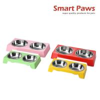 Wholesale Smartpaws Cute melamine double pet bowl for dogs and cats New pet products colorful choose from china suppliers