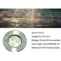 Wholesale RGB DMX Outdoor Underwater LED Lights Stainless Steel 3W for Swimming Pool / Pond from china suppliers