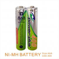 Wholesale Cylindrical shape Rechargeable NIMH AAA400mAH 1.2V camera & shaver & flashlight battery   from china suppliers