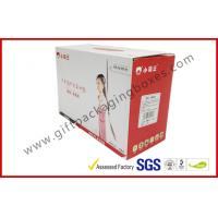 Wholesale Foldable 350g C1S corrugated cardboard boxes 3 Layers Flat Cartons from china suppliers