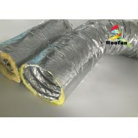 Wholesale Round 10 Inch HVAC Duct Insulation Wrap , Aluminum Foil Insulated Ventilation Metal Duct Insulation Wrap from china suppliers