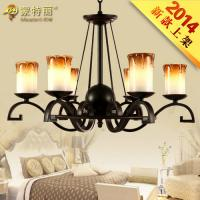Wholesale Villa / Hotel Lobby LED Wrought Iron Ceiling Lights with Shade 50cm Height from china suppliers