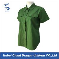 Wholesale Women Green Police Officer Shirts Short Sleeve Dress Shirts For Worker from china suppliers