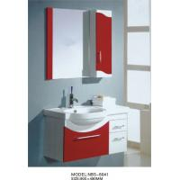 Wholesale wall mount cabinet / PVC bathroom vanity / hung cabinet / wine red color for bathroom 70 X45/cm from china suppliers