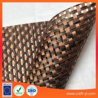 Wholesale Brown black color Textilene mesh fabric high strength for sun lounger outdoor chair fabric 4X4 from china suppliers