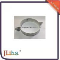 Wholesale White Painting Down Pipe Clamps Galvanised Tube Clamps With Riveted Fixed Nut M8 from china suppliers