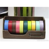 Quality Gold Washi Tape Backed By Japanese Paper And Acrylic Glue Coating for sale