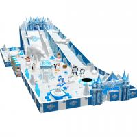 Wholesale snow theme plastic kids indoor play structure with various games from china suppliers