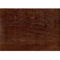 Wholesale Dark Wood Grain PVC Vinyl Flooring 5mm For Office / Shopping Mall Eco - Friendly from china suppliers