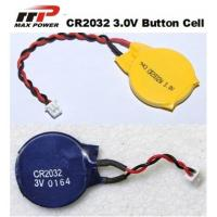 Wholesale CR2032 3V Primary Lithium Battery 210mAh , High Voltage Button Cell from china suppliers