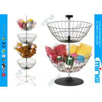 Wholesale Counter Top Toys Four-basket Spinner Simple Wire product display stands from china suppliers