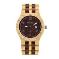 Wholesale Men Size Maple And Red Sandalwood Handmade Wooden Watches CE Rosh FSC Certificates from china suppliers