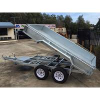 Wholesale Galvanised Axle Hydraulic Tipper Trailer , 10 X 5 Tandem Trailer With Electrical Brake from china suppliers