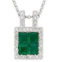 Wholesale Emerald & Diamond Pendant from china suppliers