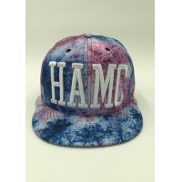 Wholesale Cotton Polyester Floral Snapback Hats Blue 3D Puffed Embroidey Unisex from china suppliers