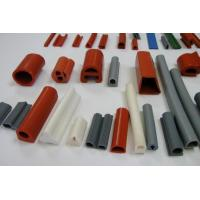Quality silicone rubber strip tubing silicone rubber extrusions profiles colorful white red blue green section for sale