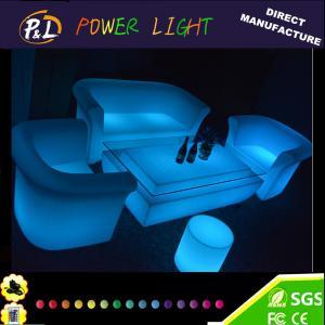 Quality Outdoor Plastic Illuminated LED Lounge Sofa Set for sale