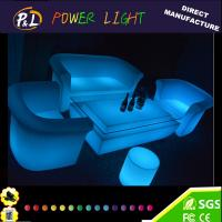 Buy cheap Outdoor Plastic Illuminated LED Lounge Sofa Set from wholesalers