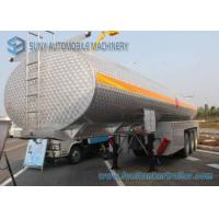 Wholesale 35000L Alcohol Tanker 3 Axles SUS304 Chemical  Liquid Tank Trailer from china suppliers