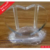 Wholesale Acrylic Vase Perspex Display Stands Modern High Polish Heart Shape from china suppliers