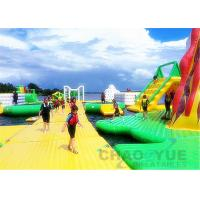 Quality Sea Field Giant 0.9mm PVC Inflatable Floating Water Park With CE Air Pump for sale