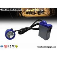 Buy cheap 10000lux brightness LED Mining Light emergency miner lamp with 3.7V 6.6Ah battery from wholesalers