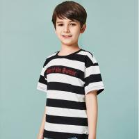 Two-tone Texture T-Shirt Kids' Clothes Short Sleeve Cotton Boys Clothing for sale