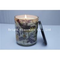 Wholesale nice candle container with soy wax,custom candle holder with lid from china suppliers