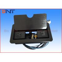 Wholesale Black Manual Flip Up Table Cable Cubby With 1.5 Meter Cable Connectors from china suppliers