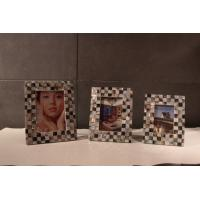 Wholesale Square Customized Picture Frames , Plywood Frame with Shell Decoration from china suppliers