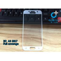 Quality AGC Tempered Glass 3D Curved Screen Protector For Samsung A3 2017 White Color for sale