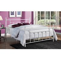 Quality Decorative Full Size Metal Beds , Double White Full Storage Bed Frame Platform for sale
