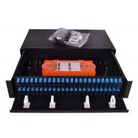 Wholesale Slim 1U Fiber Optic Patch Panel 96 Cores Sliding Open SC Type For LAN / WAN from china suppliers